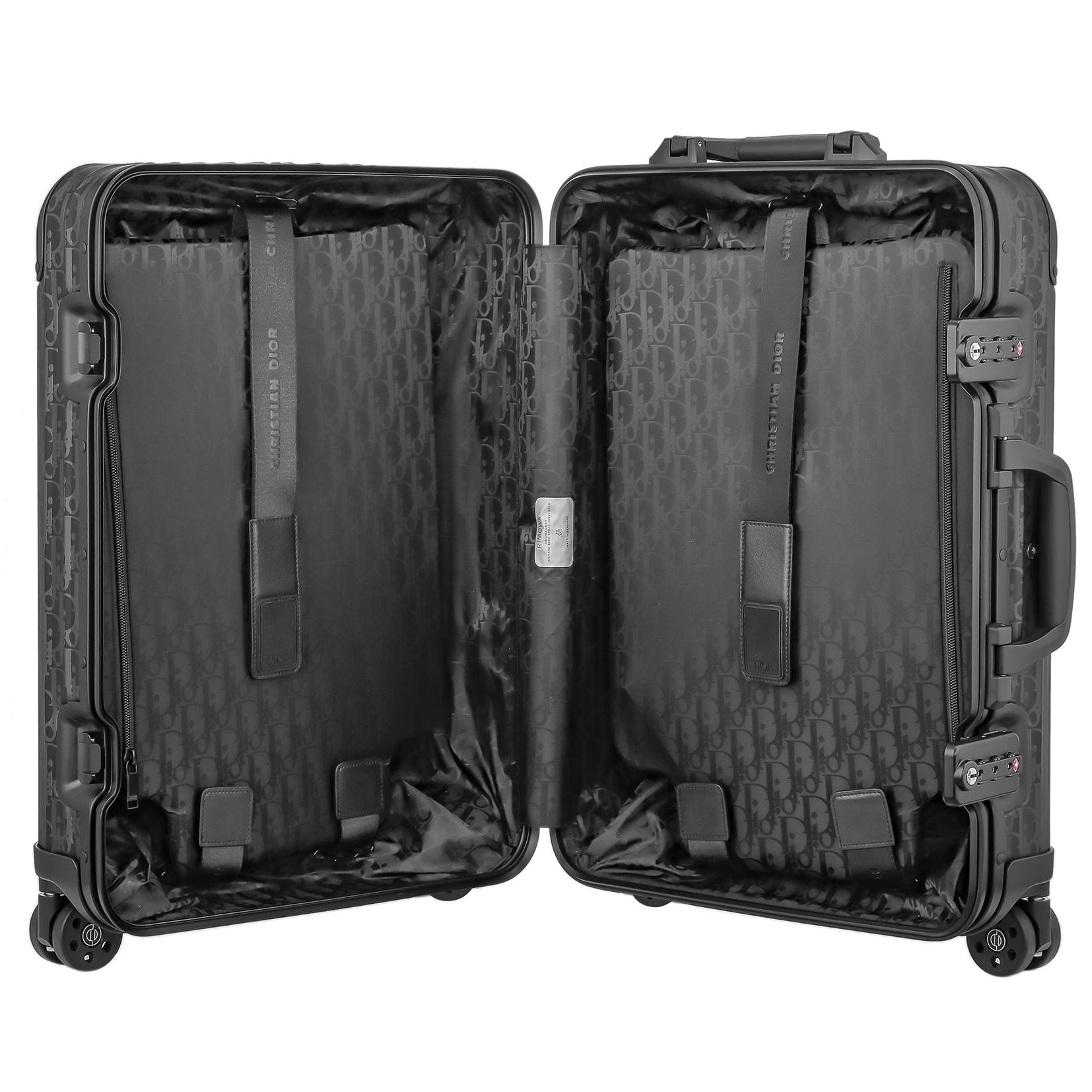 【お取り寄せ】【送料無料】リモワ RIMOWA ディオールアンドリモワ 【DIOR AND RIMOWA】 スーツケース キャビン 925.90.02.7 35L 4.3kg ブラック 2泊~3泊 TSAロック 機内持ち込み可