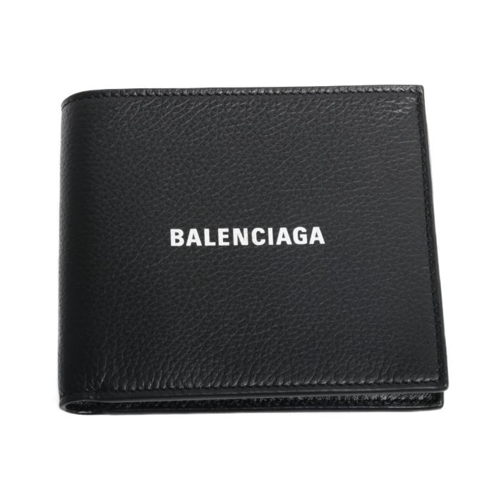 送料無料 バレンシアガ BALENCIAGA  小銭入れ付き 二つ折り財布 594549 1IZI3 1090 ブラック メンズ