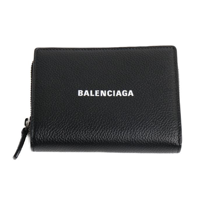 バレンシアガ BALENCIAGA  小銭入れ付き 二つ折り財布 650879 1IZI3 1090 ブラック メンズ レディース