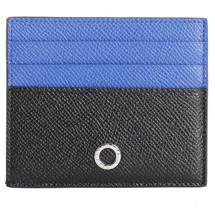 送料無料 ブルガリ BVLGARI ブルガリブルガリマン カードケース 288308 ブラック ブルー メンズ