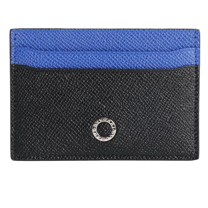 送料無料 ブルガリ BVLGARI ブルガリブルガリマン カードケース 288600 ブラック ブルー メンズ