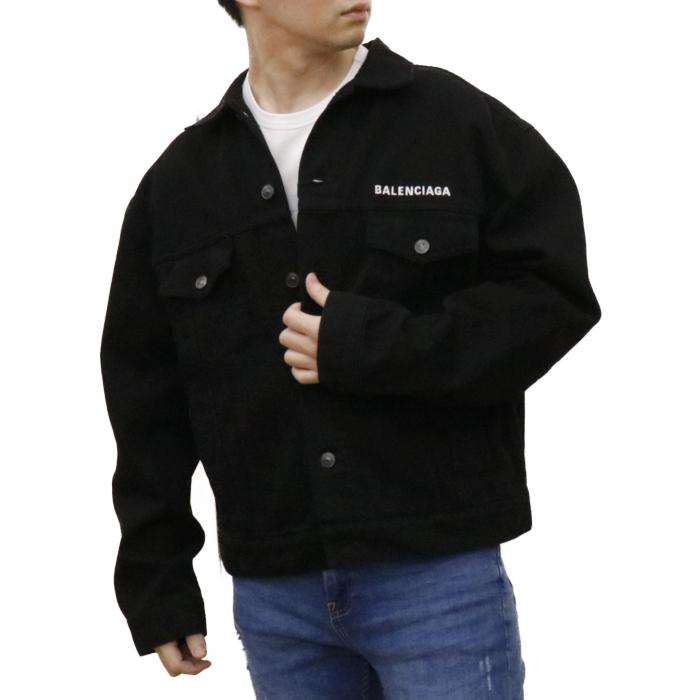 【送料無料!】バレンシアガ BALENCIAGA デニムジャケット 628701 TEW35  ブラック【BLACK】 サイズ【44】
