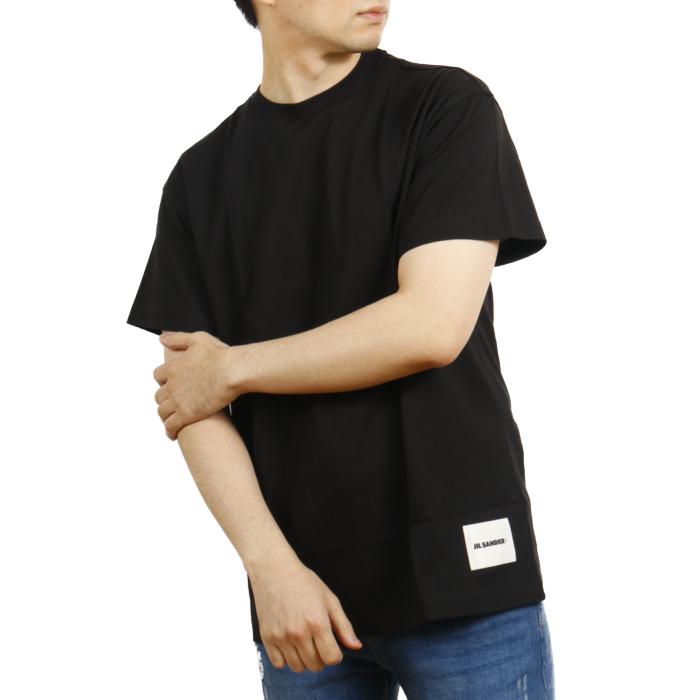 ジルサンダープラス JIL SANDER+ メンズ 半袖 Tシャツ JPUT706530 001 ブラック【BLACK】