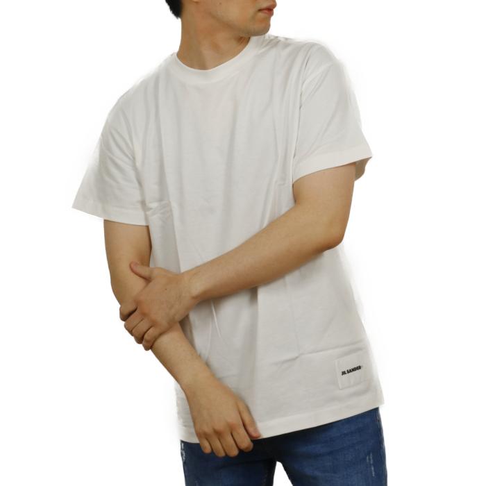 ジルサンダープラス JIL SANDER+ メンズ 半袖 Tシャツ JPUT706530 100 ホワイト【WHITE】