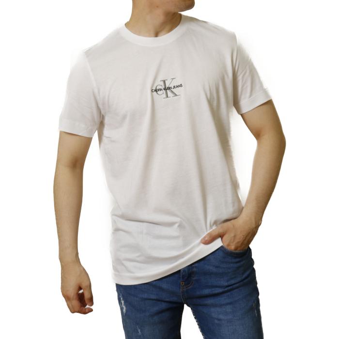 カルバンクライン ジーンズ CALVIN KLEIN JEANS メンズ 半袖 Tシャツ カットソー J30J317092 YAF ホワイト【WHITE】