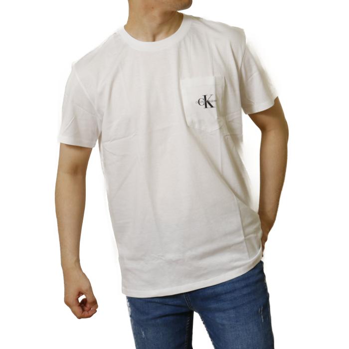 カルバンクライン ジーンズ CALVIN KLEIN JEANS メンズ 半袖 Tシャツ カットソー J30J317294 YAF ホワイト【WHITE】