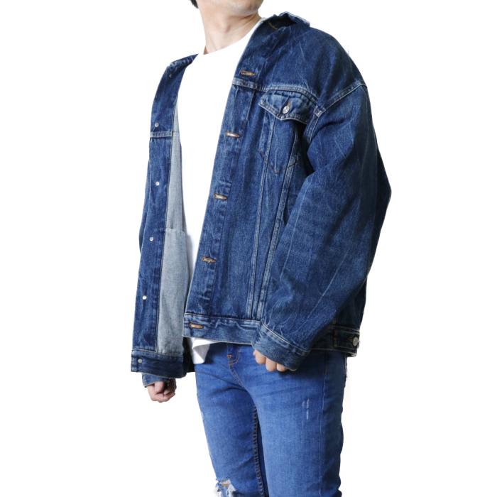 バレンシアガ BALENCIAGA メンズ デニムジャケット 641545 TJW21  ブルー【BLUE】