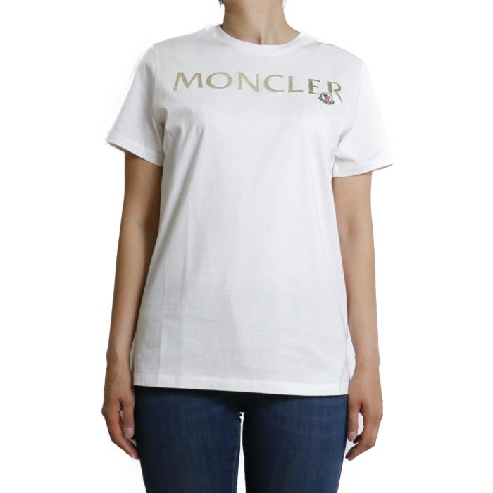 【送料無料!】モンクレール MONCLER レディース 半袖 Tシャツ カットソー 8C715 8C71510 V8094 033 ホワイト【WHIITE】