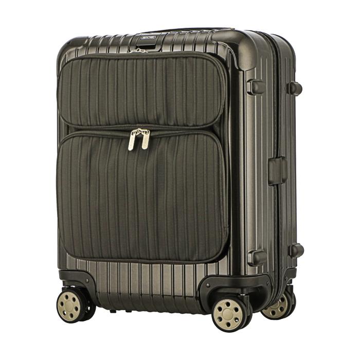 【お取り寄せ】リモワ RIMOWA スーツケース サルサデラックスハイブリッド 840.56.33.4 46L 4.8kg 電子タグ グラナイトブラウン 3泊~5泊目安 TSAロック 4輪 機内持ち込み不可
