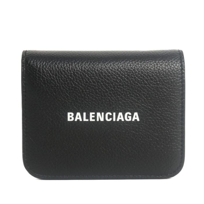 バレンシアガ BALENCIAGA 二つ折り財布 コンパクトウォレット 655624 1IZIM 1090 BLACK ブラック レディース メンズ