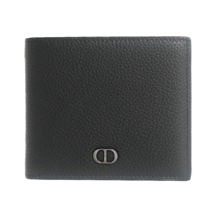 クリスチャンディオール Christian Dior 2つ折り財布 札入れ DIOR HOMME ディオールオム 2ESBH027 CDI H00N ブラック メンズ