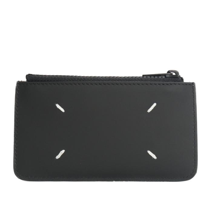 メゾンマルジェラ MAISON MARGIELA カードケース ミニ財布 S55UA0023 PS935 T8013 レザー フラグメントケース ブラック メンズ