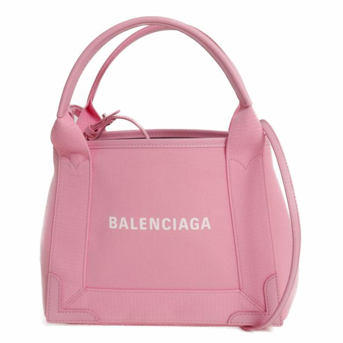 バレンシアガ BALENCIAGA トートバッグ ネイビー カバス XS キャンバストート BC390346 2HH3N 5890 ROSE ローズ レディース