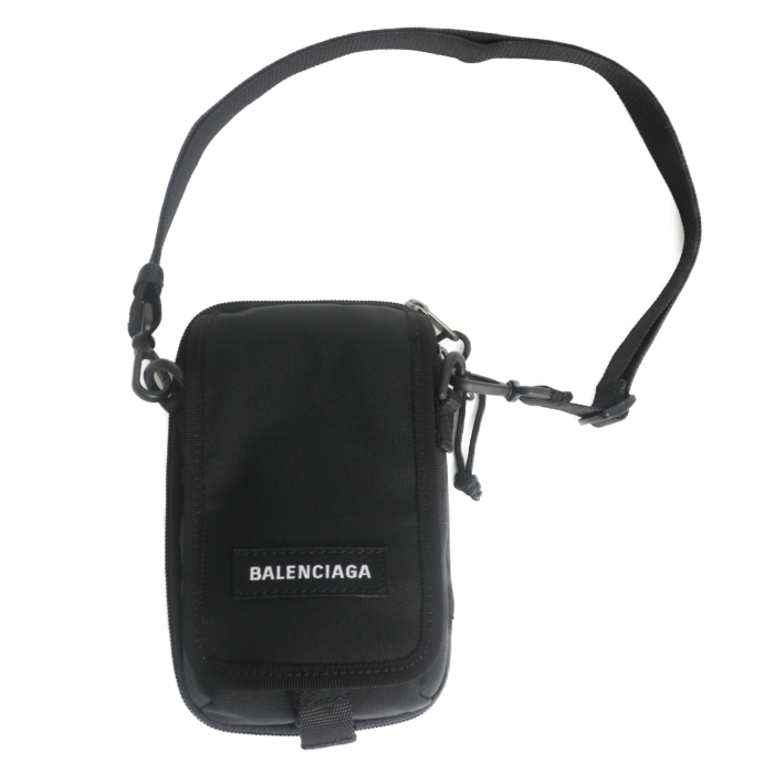 バレンシアガ BALENCIAGA ミニ サコッシュ ショルダーバッグ EXPL.CROSSB POUCH 593329 H756X 1000 BLACK ブラック レディース