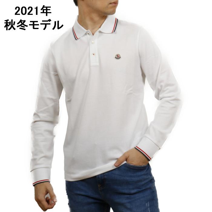 モンクレール MONCLER メンズ 長袖 ポロシャツ 8B701 8B70100 84556 001 ホワイト【WHITE】 サイズ【XL】