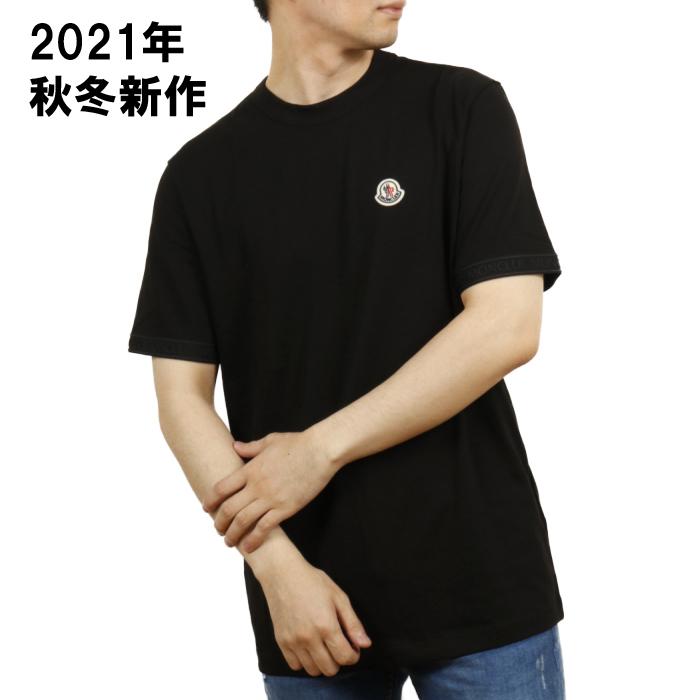 モンクレール MONCLER メンズ 半袖 Tシャツ 8C00026 8C00026 8390T 999 ブラック【BLACK】 サイズ【XL】