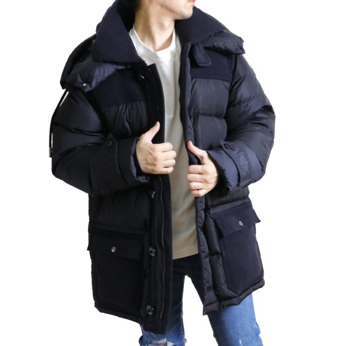 【送料無料!】モンクレール MONCLER メンズ ダウン コート ジャケット TOURVILLE 4237185 54155 743 ネイビー【NAVY】 サイズ【5】