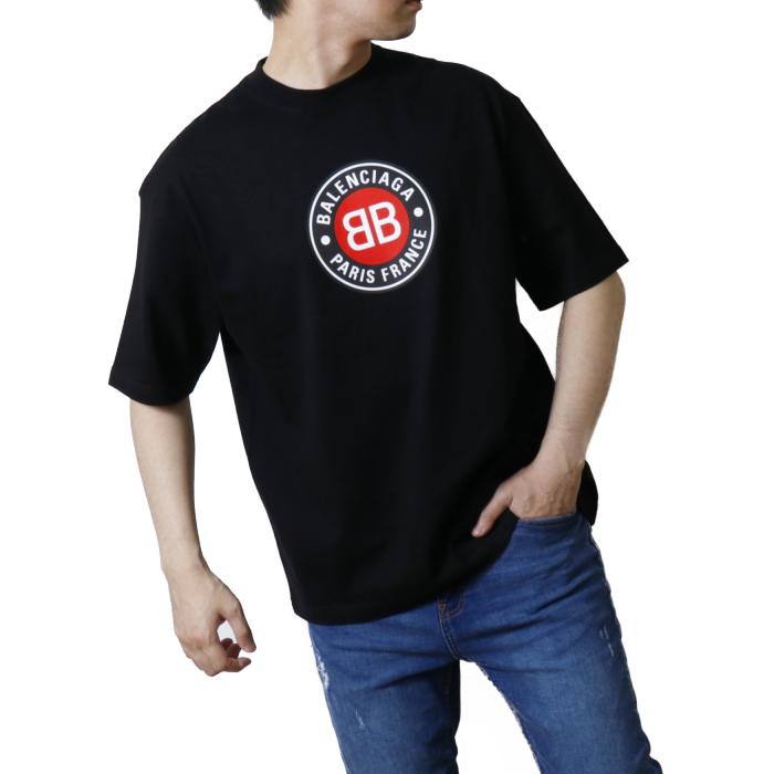 バレンシアガ BALENCIAGA メンズ 長袖 Tシャツ カットソー 612966 TSUD6  ブラック【BLACK】 サイズ【S】
