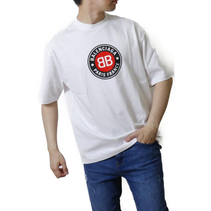 バレンシアガ BALENCIAGA メンズ 長袖 Tシャツ カットソー 612966 TSUD6  ホワイト【WHITE】 サイズ【S】