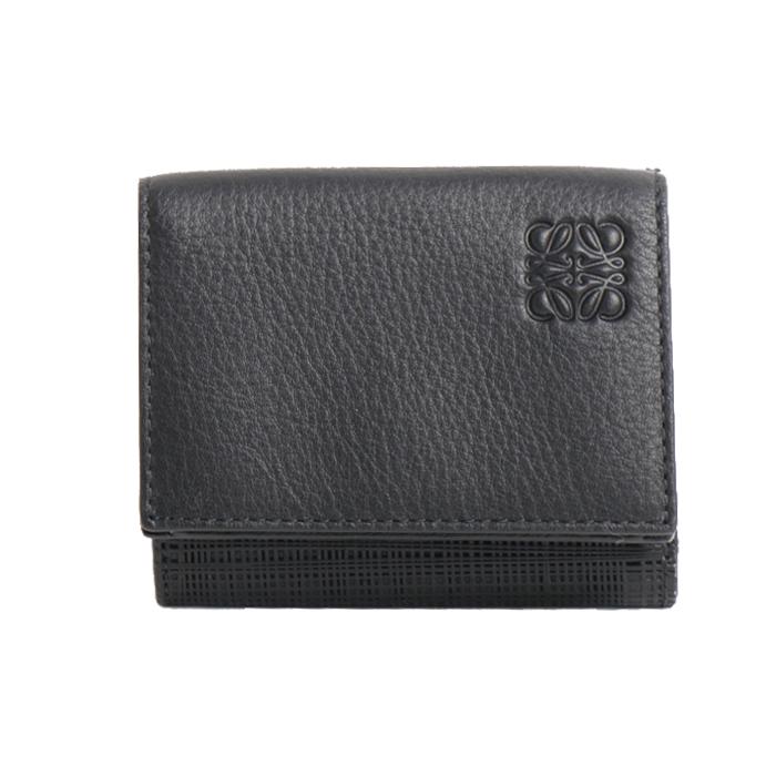 ロエベ LOEWE 小銭入れ付き 三つ折り財布 TRIFOLD WALLET 101 88 S26 1100 ブラック メンズ