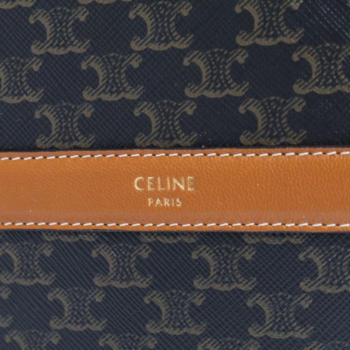 セリーヌ CELINE ショルダーバッグ 10G342CAM 04BT トリオンフ キャンバス ブラック タン レディース