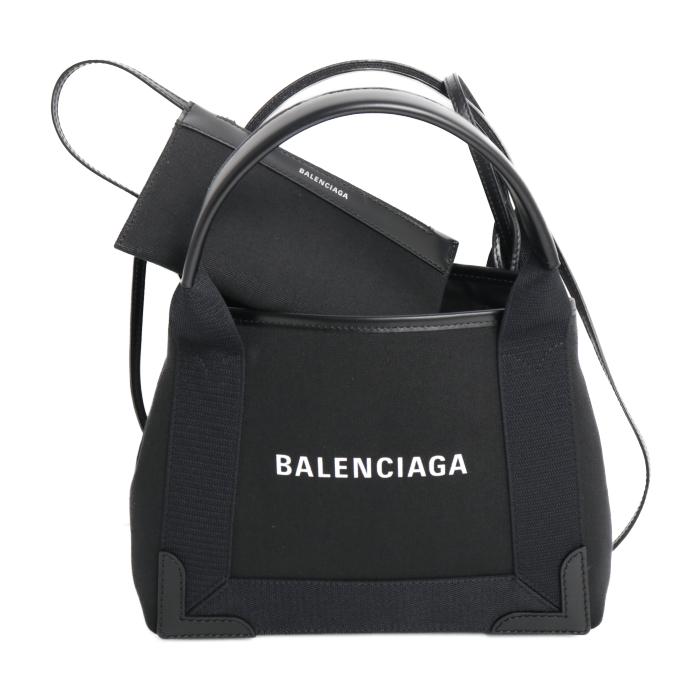 バレンシアガ BALENCIAGA トートバッグ NAVY CABA XS 390346 2HH3N 1000 ブラック レディース