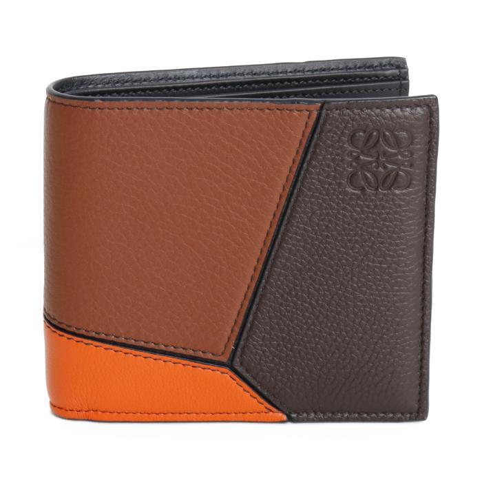 ロエベ LOEWE 二つ折り財布 パズル ビルフォード 121 30 H302 3766 コニャック チョコレートブラウン メンズ