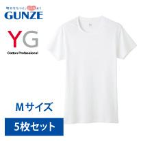 グンゼワイジーYV0013NホワイトサイズM半袖クルーネックTシャツ【GUNZEYG】