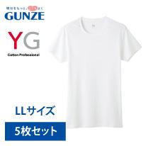 グンゼワイジーYV0013NホワイトサイズLL半袖クルーネックTシャツ【GUNZEYG】