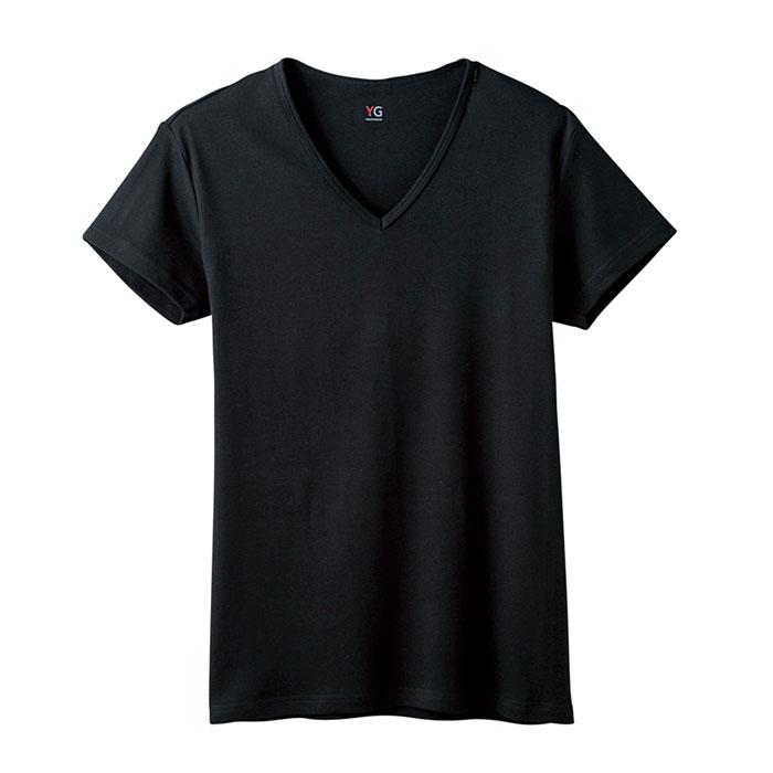 グンゼワイジーYV0015NブラックサイズM半袖VネックTシャツ【GUNZEYG】