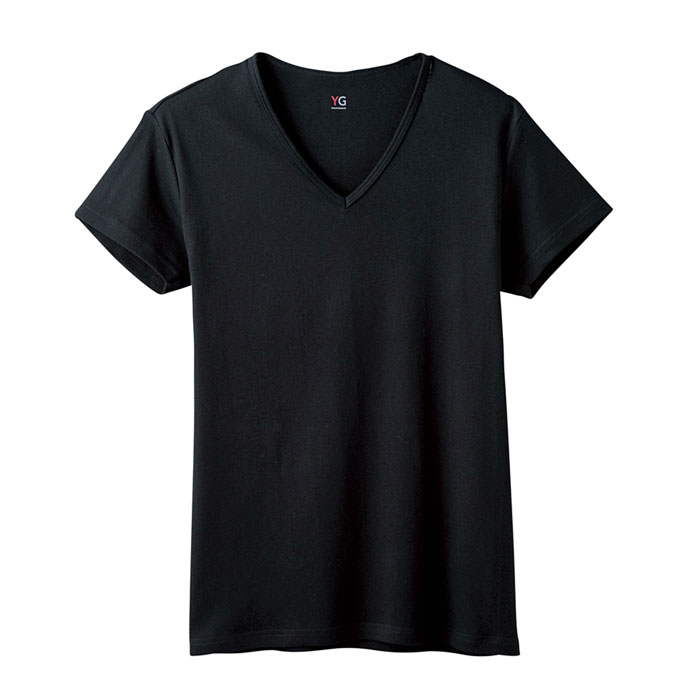 グンゼワイジーYV0015NブラックサイズLL半袖VネックTシャツ【GUNZEYG】