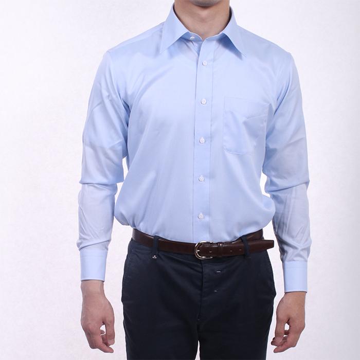 【送料無料】多慶屋オリジナルワイシャツ KZB69100 サックス サイズ 40-82 ビジネスワイシャツ 【多慶屋オリジナルワイシャツ SA】
