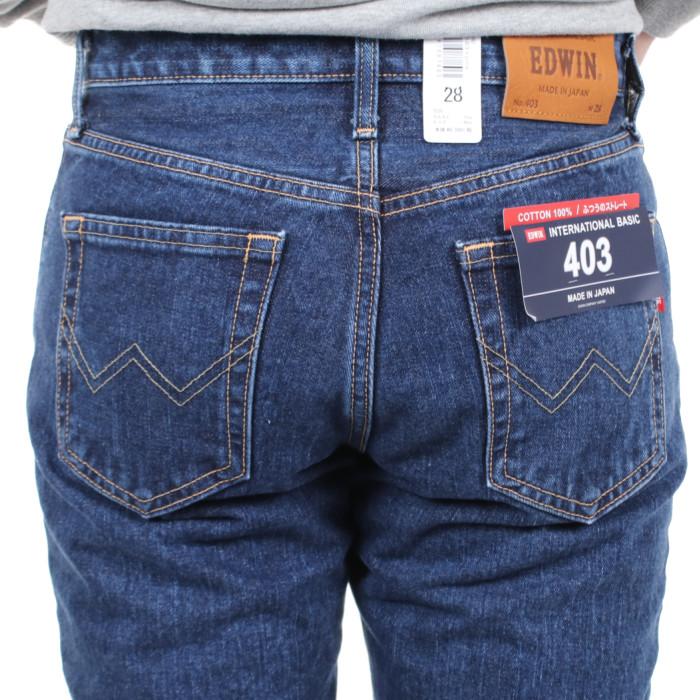 エドウインE403サイズ34メンズジーンズ【EDWIN】|インターナショナルベーシックふつうストレートカジュアルパンツデニム日本製INB