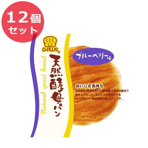 12個セット デイプラス パン 菓子パン 天然酵母パン ブルーベリー味