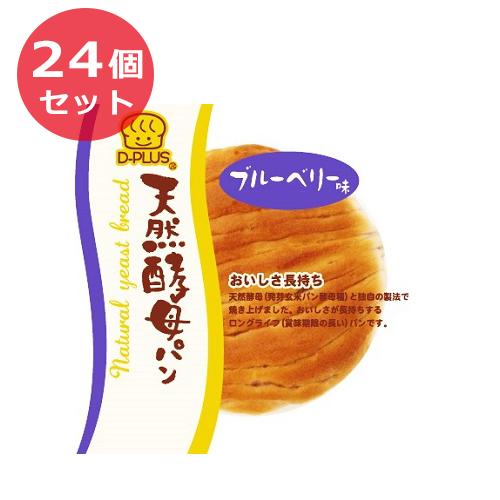 24個セット デイプラス パン 菓子パン 天然酵母パン ブルーベリー味