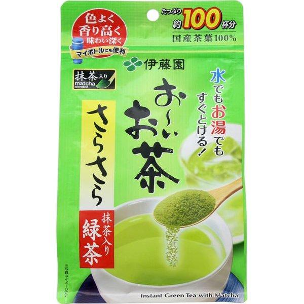 伊東園日本茶日本茶粉末抹茶入りさらさら緑茶80g