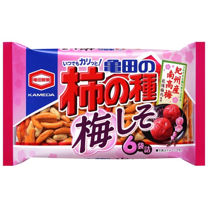亀田製菓 柿の種 梅しそ 6袋入り