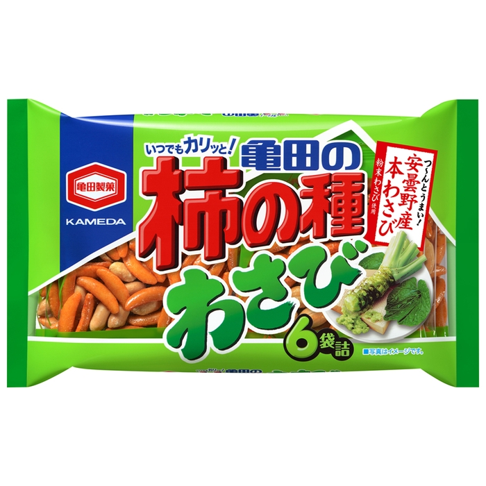 亀田 わさび柿の種 6袋入り
