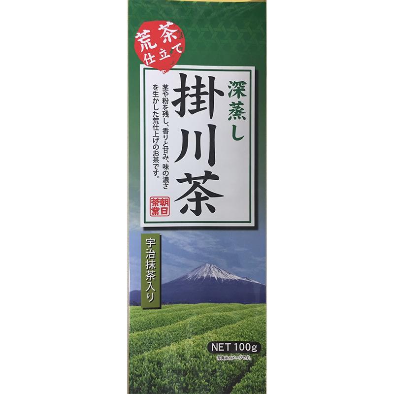 日本茶 深蒸し緑茶 荒茶仕立て深蒸し掛川茶 100g