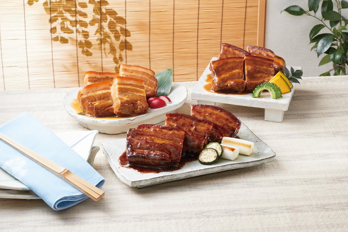 【送料無料】申込番号221* 賛否両論 こだわり3種の豚角煮セット<WA-36>【お中元】【御中元】【夏ギフト】