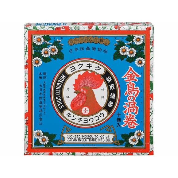 大日本除虫菊 金鳥の渦巻K 10巻【蚊取り線香】