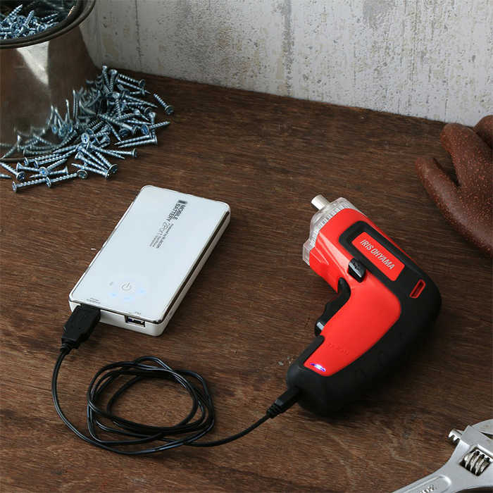 【TAKEYAスマイル便 対象品】アイリスオーヤマ充電式電動ドライバーJDD351レッドコードレス