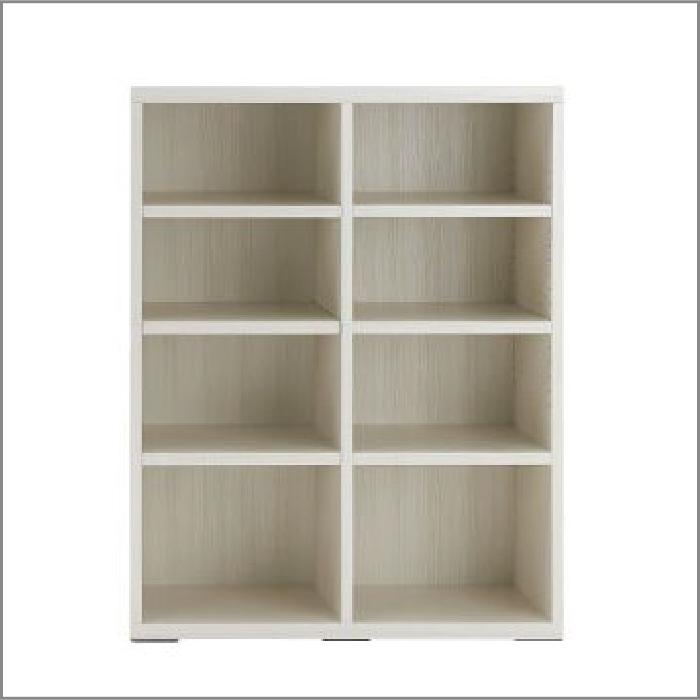 【お取り寄せ】フナモコリビングシェルフ(オープンLFS-90ホワイトウッド壁面スタイル組合せ用商品