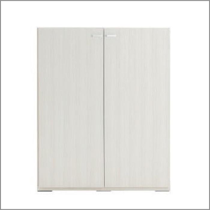 【お取り寄せ】フナモコリビングシェルフKFS-90ホワイトウッド壁面スタイル組合せ用商品