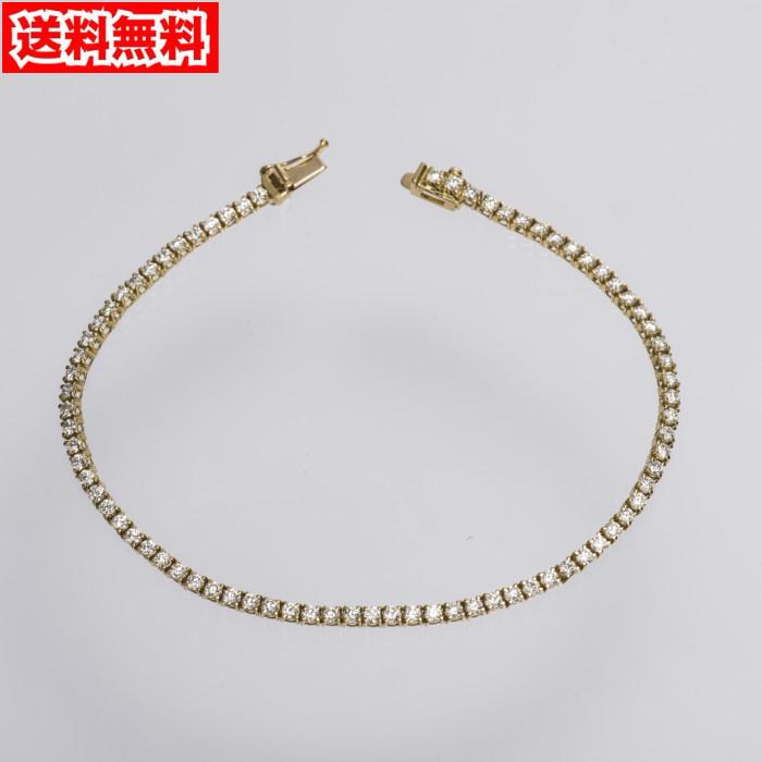 【送料無料!】K18 ダイヤモンド テニスブレスレット トータル2.00ct 1606363002