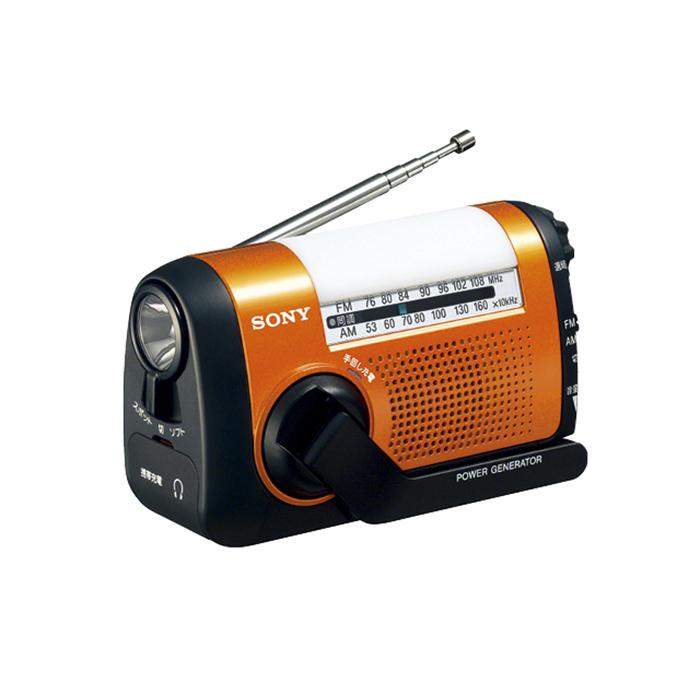 ソニーICF-B09DFM/AMポータブルラジオオレンジ【SONYICFB09D】