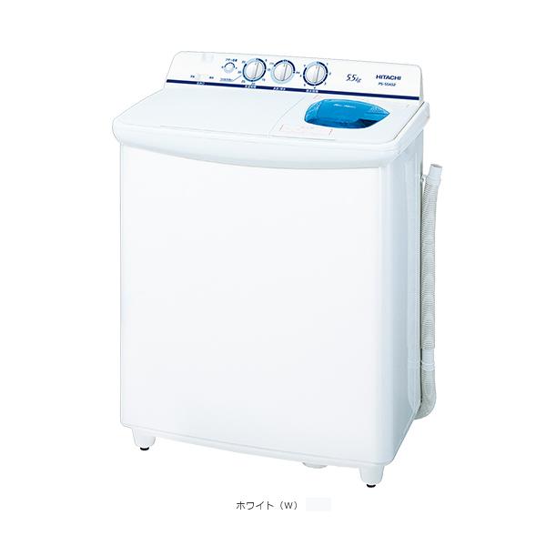 【お取り寄せ】日立5.5kg2槽式洗濯機青空PS-55AS2-Wホワイト【HITACHIPS55AS2W】【時間指定不可】
