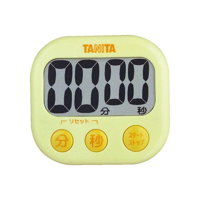 タニタ デジタルキッチンタイマー TD-384-YL イエロー でか見えタイマー 【TANITA TD384YL】