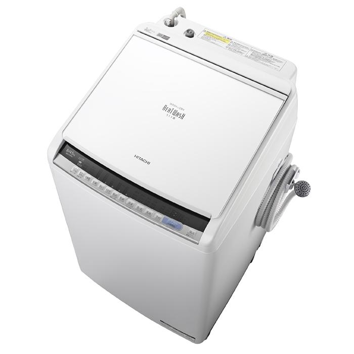 【アウトレット】【基本設置無料】【東京23区近郊限定配送】日立8kg縦型洗濯乾燥機BW-DV80C-WホワイトHITACHIBWDV80C