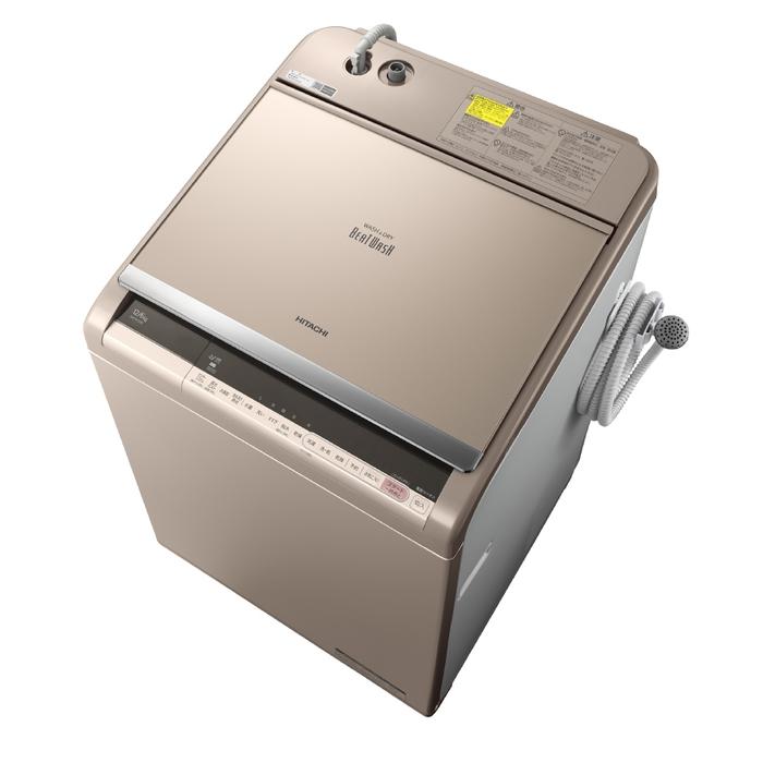 【アウトレット】【基本設置無料】【東京23区近郊限定配送】日立12kg縦型洗濯乾燥機BW-DV120C-NシャンパンHITACHIBWDV120C